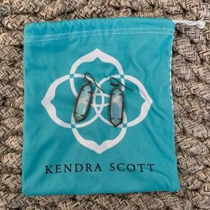 Kendra Scott Layla Drop Earrings- Clear Glass